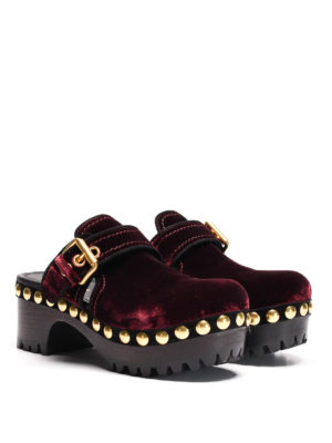 Car Shoe: mules shoes online - Velvet mules