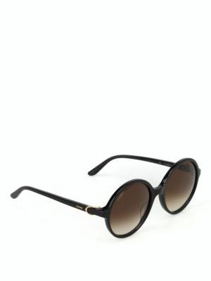 CARTIER: occhiali da sole - Occhiali da sole tondi con lenti sfumate