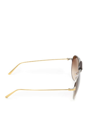 Cartier: sunglasses online - Santos de Cartier gold sunglasses