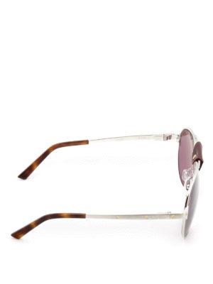 Cartier: sunglasses online - Santos de Cartier silver sunglasses