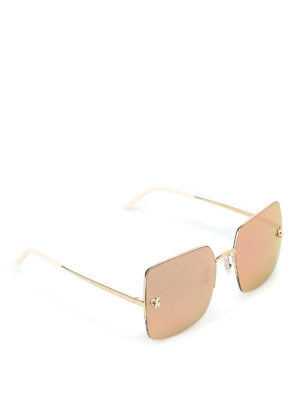 8ee58cddc9a44 Rose gold iconic panther detail eyeglasses.   1