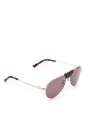 Cartier: sunglasses - Santos de Cartier silver sunglasses