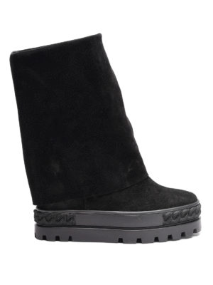 Casadei: ankle boots - Foldover reindeer ankle boots