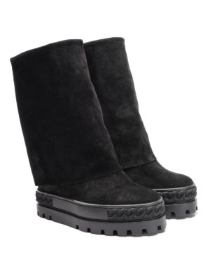 Casadei: ankle boots online - Foldover reindeer ankle boots