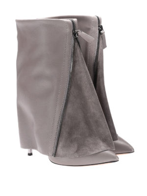 Casadei: boots online - Blade zipped leather boots