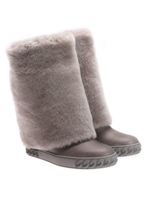 Casadei: boots online - Reversable boots with lapin fur