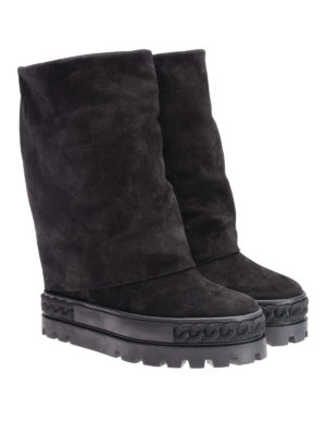 Casadei: boots online - Reversable suede boots