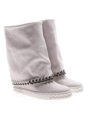 Casadei: boots online - Reversible chain detail wedge boots