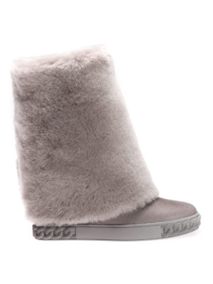 Casadei: boots - Reversable boots with lapin fur