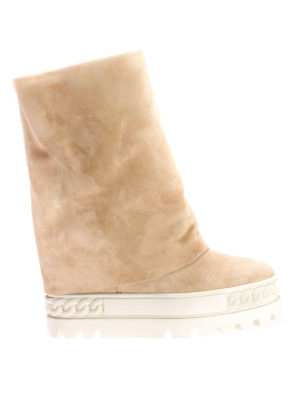 Casadei: boots - Reversable suede boots