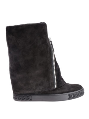 Casadei: boots - Reversable suede zipped boots