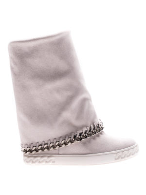 Casadei: boots - Reversible chain detail wedge boots