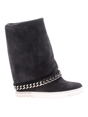 Casadei: boots - Reversible wedge boots