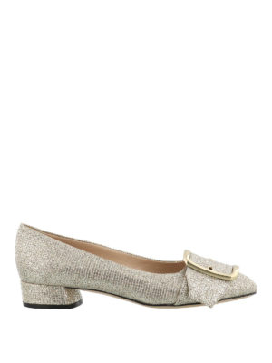 Casadei: flat shoes - Alexa gold-tone flat shoes