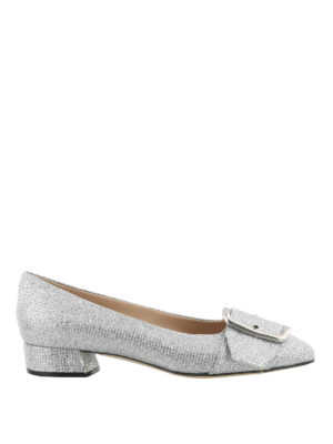 Casadei: flat shoes - Alexa silver-tone flat shoes
