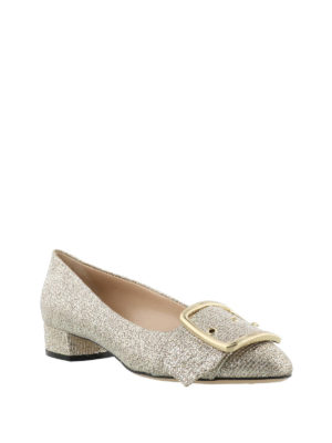 Casadei: flat shoes online - Alexa gold-tone flat shoes