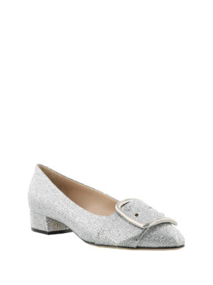Casadei: flat shoes online - Alexa silver-tone flat shoes