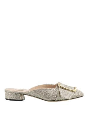 Casadei: mules shoes - Alexa gold-tone mules