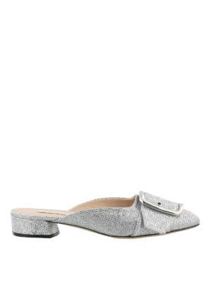 Casadei: mules shoes - Alexa silver-tone mules