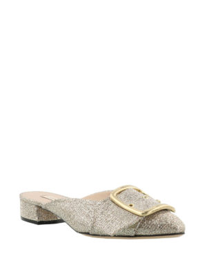 Casadei: mules shoes online - Alexa gold-tone mules