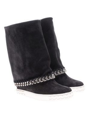 Casadei: stivali online - Stivali risvoltabili in pelle