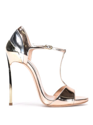 Casadei: sandals - Barbirolli metallic sandals