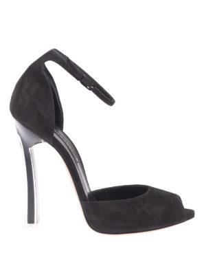 Casadei: sandali - Sandali a punta aperta con tacco Plexi Blade