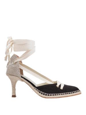 CASTANER: scarpe décolleté - Décolleté in lino by Manolo Blahnik
