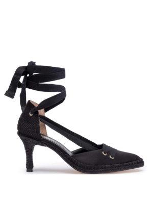 CASTANER: scarpe décolleté - Décolleté nere Manolo in satin