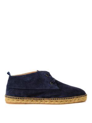 CASTANER: scarpe stringate - Stringate Bruno in camoscio blu