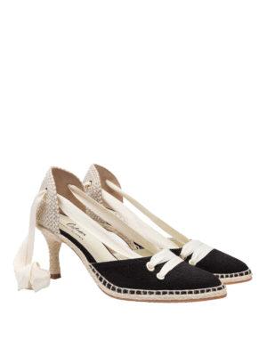 CASTANER: scarpe décolleté online - Décolleté in lino by Manolo Blahnik