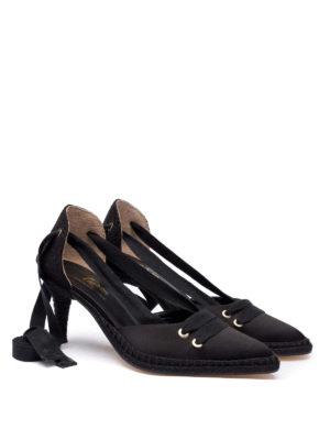 CASTANER: scarpe décolleté online - Décolleté nere Manolo in satin