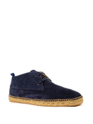 CASTANER: scarpe stringate online - Stringate Bruno in camoscio blu
