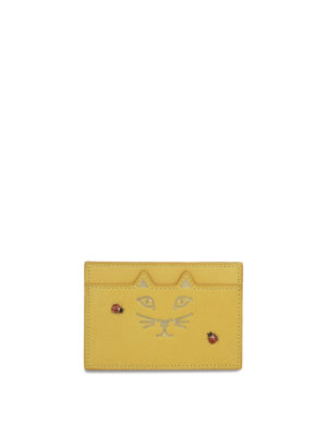 Charlotte Olympia: wallets & purses - Kitty and ladybug card holder