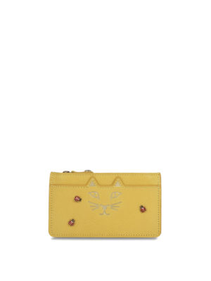 Charlotte Olympia: wallets & purses - Kitty and ladybug coin purse