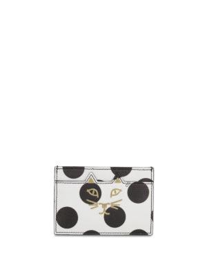 Charlotte Olympia: wallets & purses - Kitty polka dot card holder