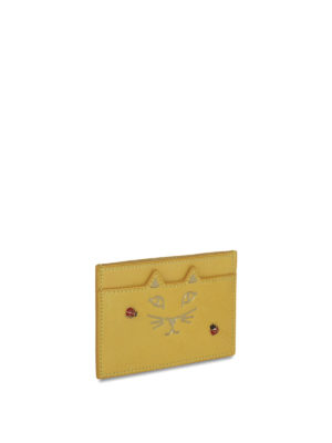 Charlotte Olympia: wallets & purses online - Kitty and ladybug card holder