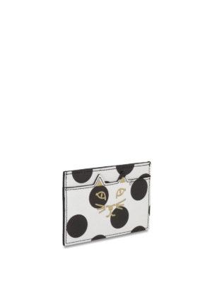 Charlotte Olympia: wallets & purses online - Kitty polka dot card holder
