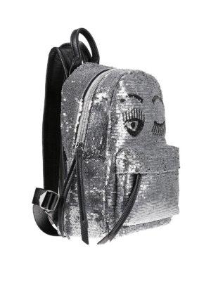 Chiara Ferragni: backpacks online - Flirting sequined backpack