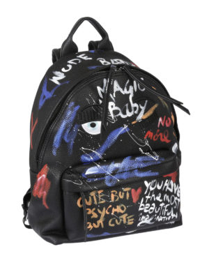 Chiara Ferragni: backpacks online - Graffiti print eco-leather backpack