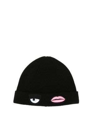 Chiara Ferragni: beanies - Eye And Lip patches beanie