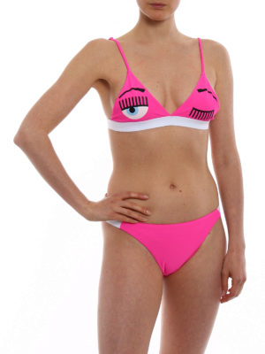 Chiara Ferragni: bikinis online - Flirting print fuchsia bikini