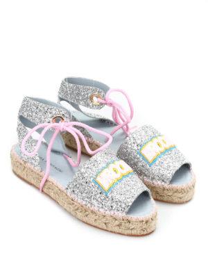 Chiara Ferragni: espadrilles - Glittered slingback sandals