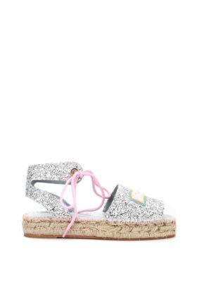 Chiara Ferragni: espadrilles online - Glittered slingback sandals