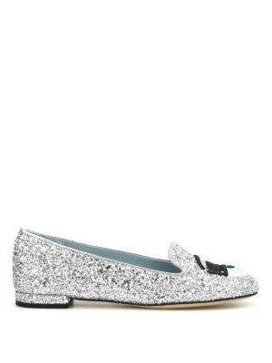 Chiara Ferragni: flat shoes - Flirting glittered flat shoes