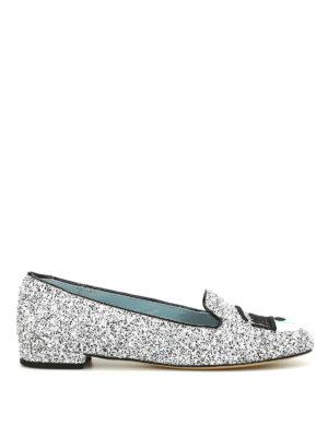 Chiara Ferragni: flat shoes - Flirting glittered flat shoes