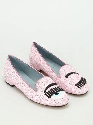 Chiara Ferragni: flat shoes online - Flirting glittered flat shoes