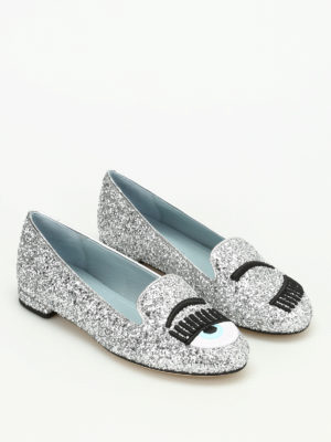 Chiara Ferragni: flat shoes online - Flirting glittered flat shoes