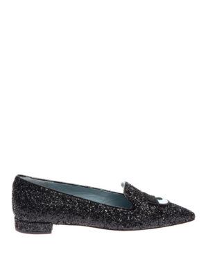 Chiara Ferragni: Loafers & Slippers - Logomania glittered slippers