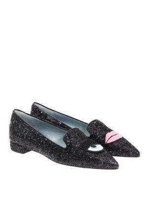 Chiara Ferragni: Loafers & Slippers online - Logomania glittered slippers